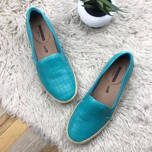 •CLARKS• Leather Danelly Molly Espadrille Flats